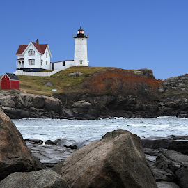 Nubble Lighthouse - Cape Neddick, Maine by Steven Liffmann - Buildings & Architecture Other Exteriors ( lighthouse, nublle lighthouse )