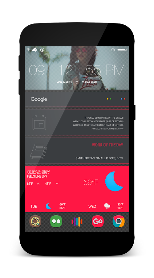 Elegante for KLWP Screenshot 5