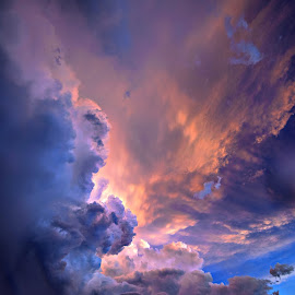 Catching the Sunset by Derrill Grabenstein - Landscapes Cloud Formations