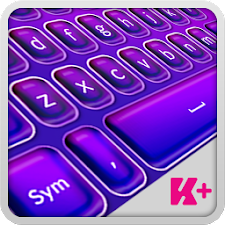 Keyboard Plus Violet Theme