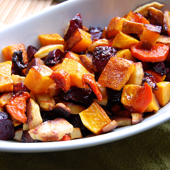 Maple-Glazed Root Vegetables Recipe | Yummly