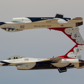 USAF Thunderbirds Calypso Pass with #5 and #6 by David De La Vega - Transportation Airplanes ( lacas, 2015 la county air show, usaf thunderbirds )
