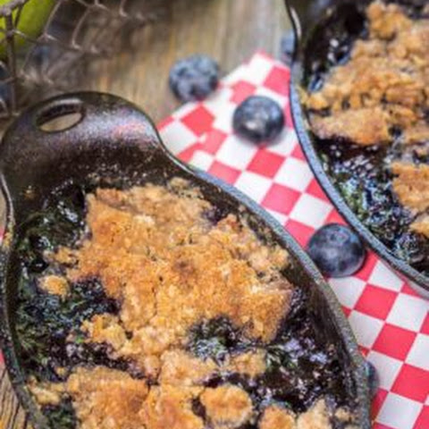 Grilled Blueberry Pear Crisp