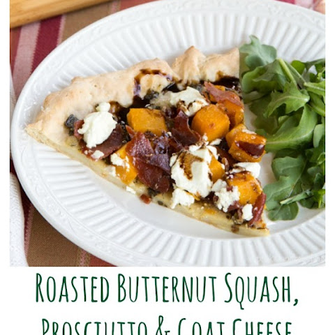 Roasted Butternut Squash, Prosciutto and Goat Cheese Pesto Pizza