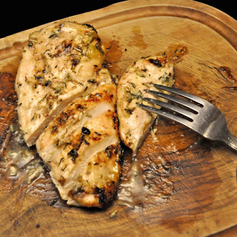 Grilled Chicken Breasts with Honey Mustard Glaze