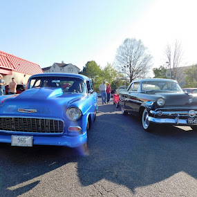 Car show in Chester, VA by TONY LOPEZ - Transportation Automobiles ( blue, cars, 1950, hot rod, usa, antiques,  )
