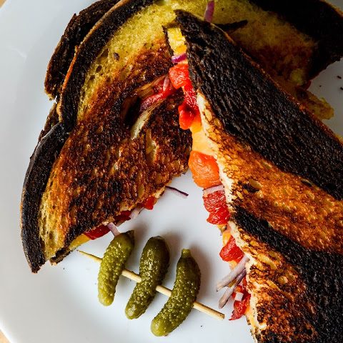 Pickled Pepper Grilled Cheese