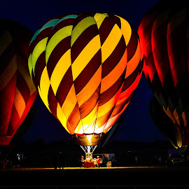 by Ron Meyers - Transportation Other ( 2014 claremore balloon glow )
