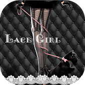 Free Download Sexy Lace girl keyboard Theme APK for Samsung