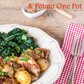 Mustard, Chicken Thigh and Potato One Pot Casserole