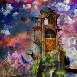 Guardians of time by Josiah Hill-meyer - Digital Art Abstract