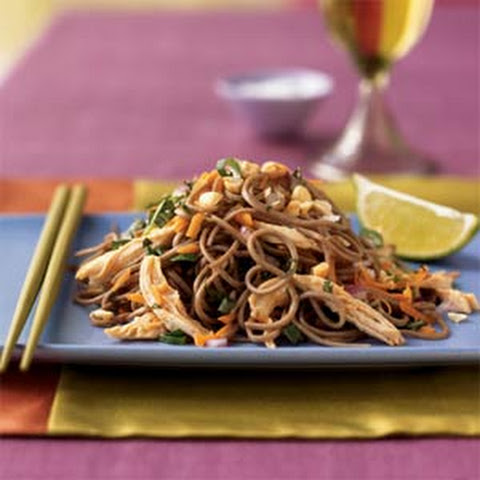 Spicy Soba Noodles with Chicken in Peanut Sauce Recipe | Yummly
