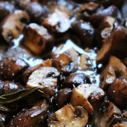 Oven Roasted Rosemary & Garlic Mushrooms
