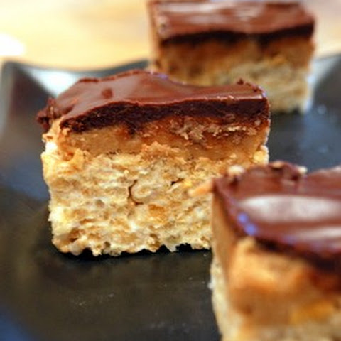 Peanut Butter Cup Rice Krispie Bars