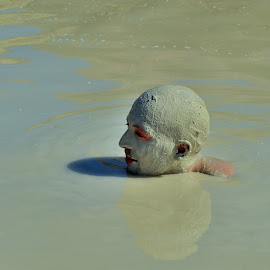 Volcanic mud bath by Tomasz Budziak - People Body Parts ( volcano, mud, men, italy, portrait )