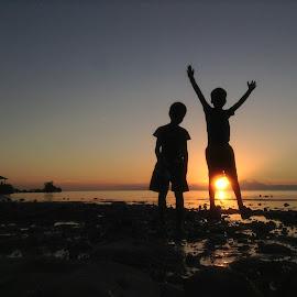Edu & Arvic by Dickson   Shia - Babies & Children Children Candids ( sunset, beach, kids )