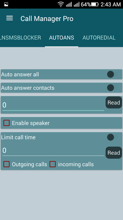 Call Manager Pro Screenshot 4