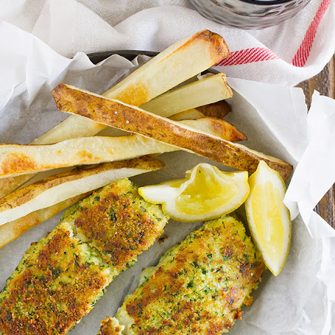 Lemon Herb Fish with Crispy Oven Fries