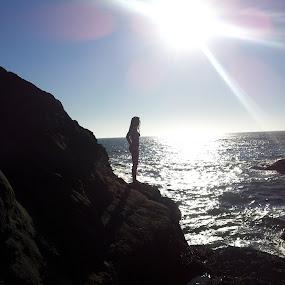 beauty by Kaitlyn Smith - Landscapes Beaches ( beautiful women, pacific, ocean, beauty, rocks )
