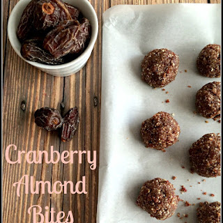 Vegan Almond Cranberry Bites