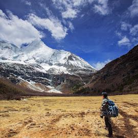 Yading Nature Reserve by Mohamad Hafiz - Landscapes Mountains & Hills ( canon, sichuan, daocheng, mountain, backpacker, lowepro, travel, yading, hiking, china )