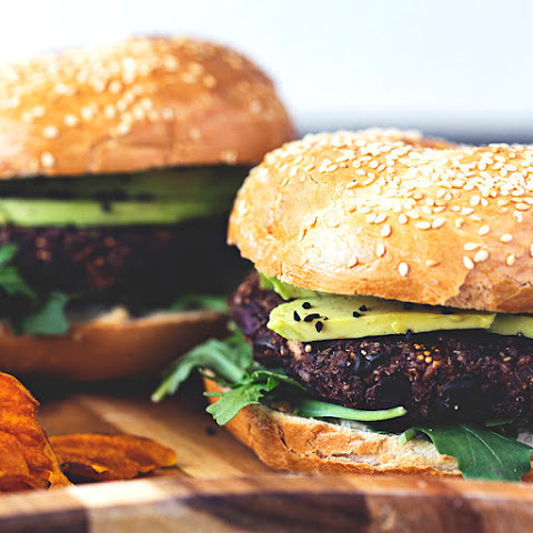 Black Bean, Mushroom, Dried Fig & Kalamata Olive Burgers