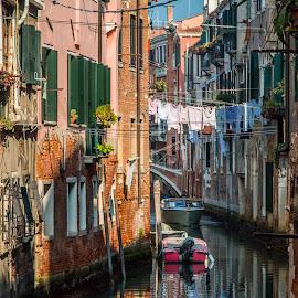 by Mario Horvat - Buildings & Architecture Homes ( venezia, touristic, benetke, italia, popular, venice, architecture, travel, boat, italy, canal, historic )