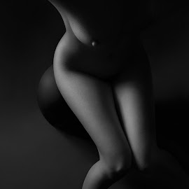 Alien by Maxim Malevich - Nudes & Boudoir Artistic Nude ( breast, body, nude, black and white, woman, art )