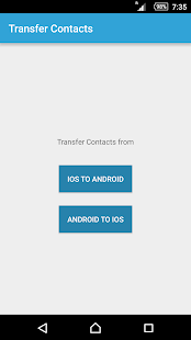 Transfer Contacts to iPhone - screenshot