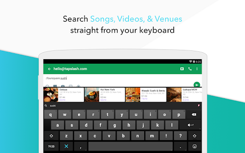 Slash Keyboard Screenshot