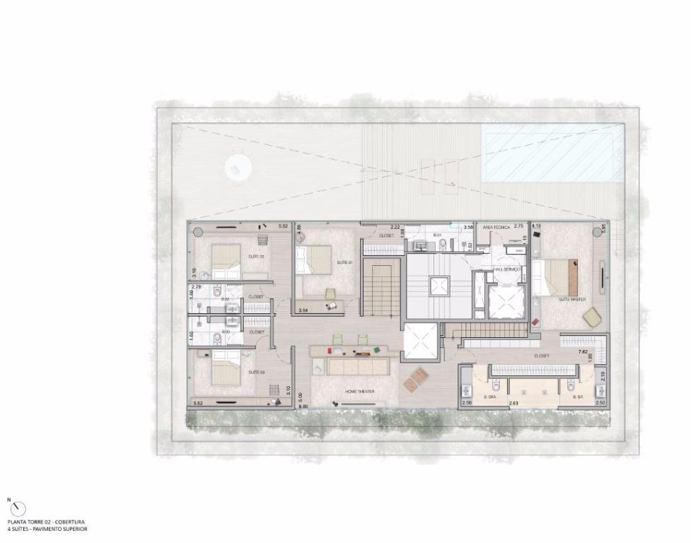 Cobertura Duplex   Pav Superior  - 683 m²