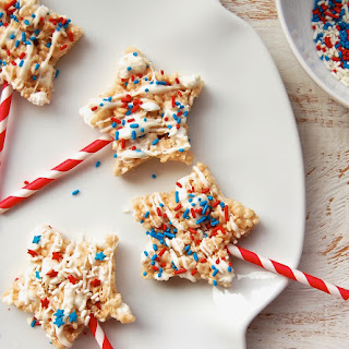 Patriotic Rice Krispie Treat Pops