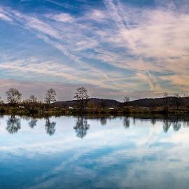 The Reflections by Branko Balaško - Landscapes Travel ( water, sky, blue, reflections, lake )
