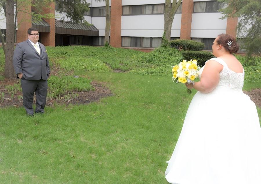 First Look by Michelle J. Varela - Wedding Bride & Groom
