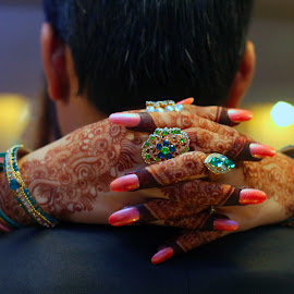 """A marriage is not a noun; it's a verb. It isn't something you get. It's the way you love your partner everyday."" Barbara De Angelis by Ahsan  Niaz - Wedding Bride & Groom ( henna, pakistaniwedding, love, wedding photography, wedding dress, lovebirds, bride and groom, wedding ceremony )"