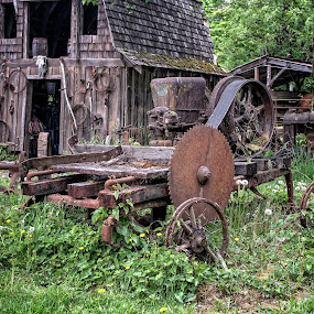 Old Saw Mill by Dennis McClintock - Buildings & Architecture Decaying & Abandoned ( saw mill, old building, decaying, decay, abandoned )