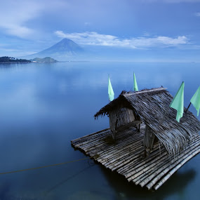 Floating Cottage by Dacel Andes - Landscapes Waterscapes