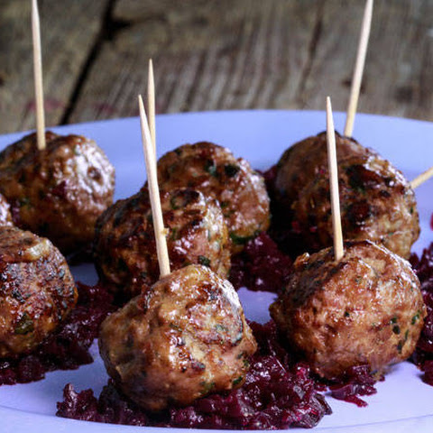Richard Blais' Goulash Meatballs with Red Cabbage Marmalade