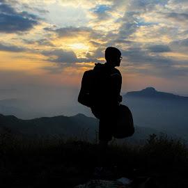 Wanderer by Kapil Shendge - Landscapes Travel ( kp_snapbbox, punekar, silhouette, canon 60d, travel, wanderlust )