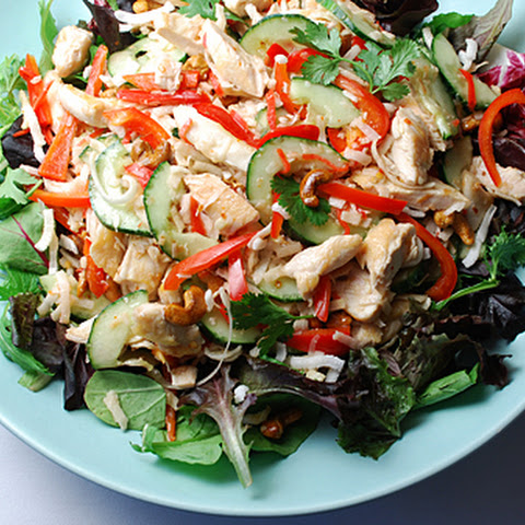 Chicken Salad with Toasted Coconut and Roasted Cashews