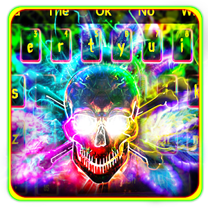 Colorful Smokey Neon Skull