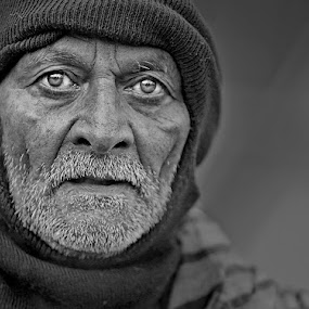 *** by Shibram Nag - People Portraits of Men ( black and white, close up, travel photography, portrait, street photography )