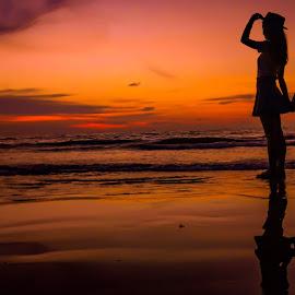Sunset by Shikin Shafie - People Street & Candids ( sunset, beach, landscape, nightscape )