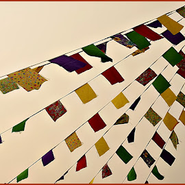 Paper Flags    by Prasanta Das - Abstract Patterns ( flags. pattern, paper )