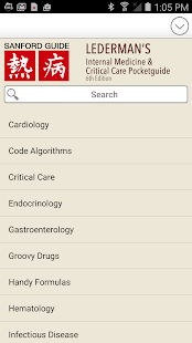 Lederman's Internal Medicine screenshot for Android