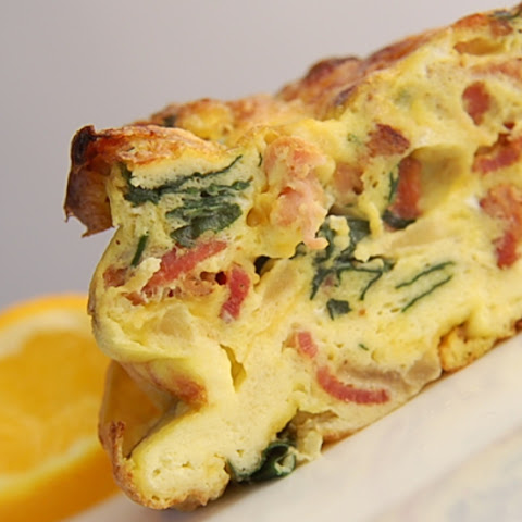 Savory Spinach Frittata with Bacon and Cheddar
