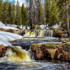 The Provo River Falls by Gosha L - Landscapes Waterscapes