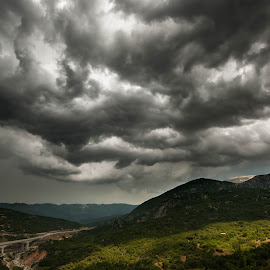 Heavy clouds by Grigoris Koulouriotis - Landscapes Weather ( clouds, mountains, sky, weather, trip )