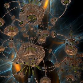 The Outpost by Rick Eskridge - Illustration Sci Fi & Fantasy ( fantasy, jwildfire, mb3d, fractal, twisted brush )