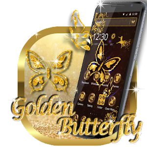 Golden Butterfly Luxury Theme For PC